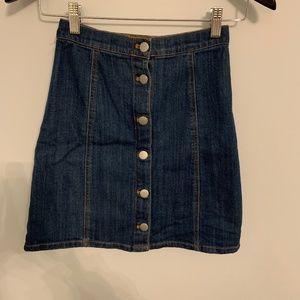 H&M Button up Jean Skirt